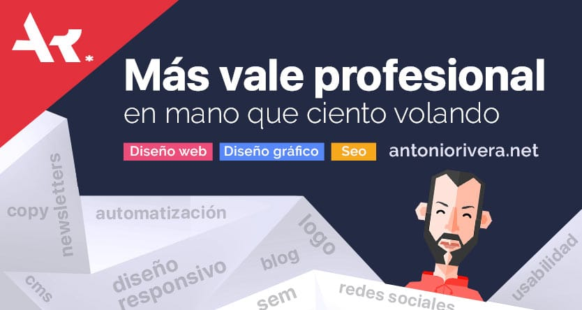 Post Ciento volando Diseñador web